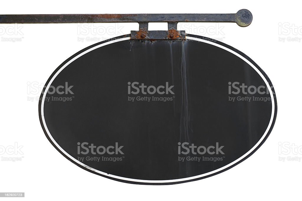 Old blank business sign royalty-free stock photo