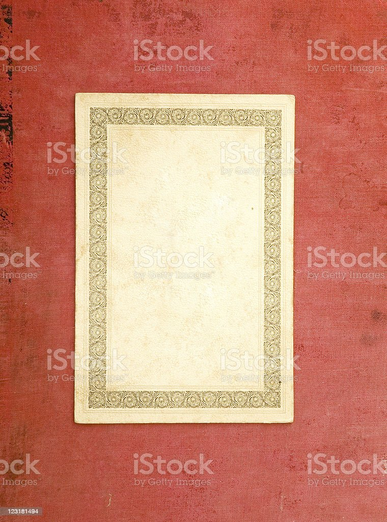 old blank card royalty-free stock photo