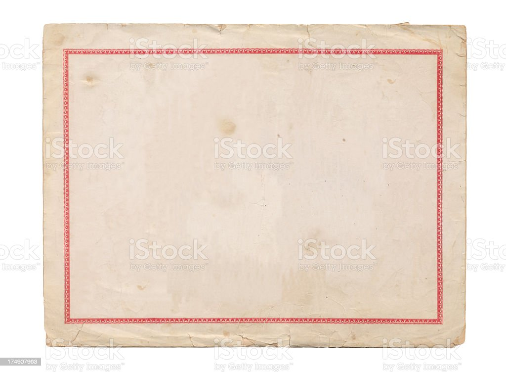 Old blank certificate royalty-free stock photo