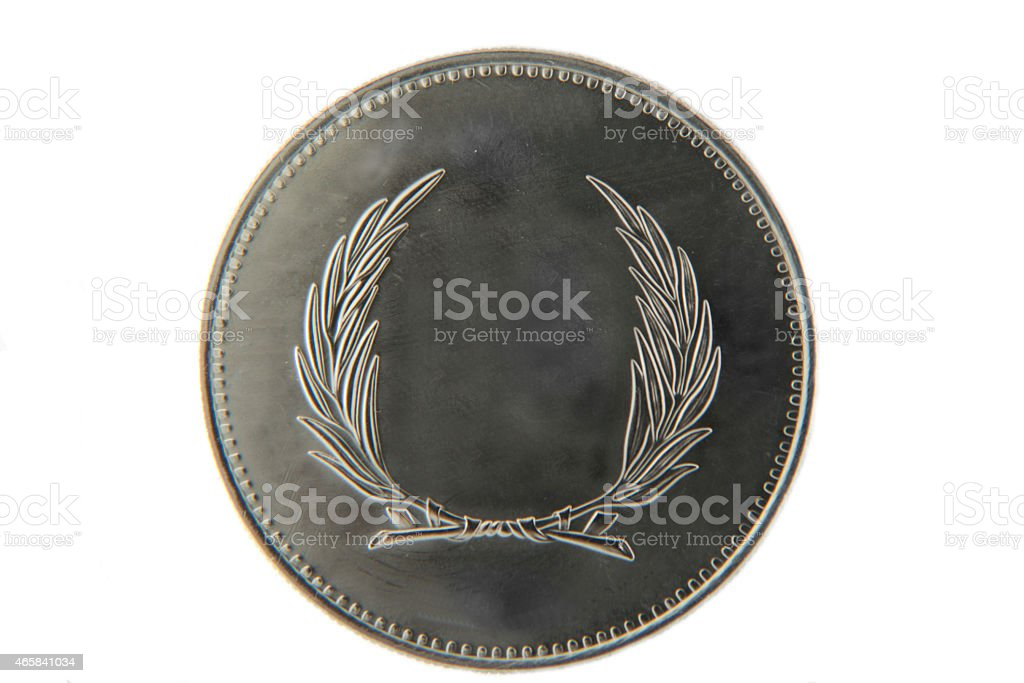 Old blank coin stock photo
