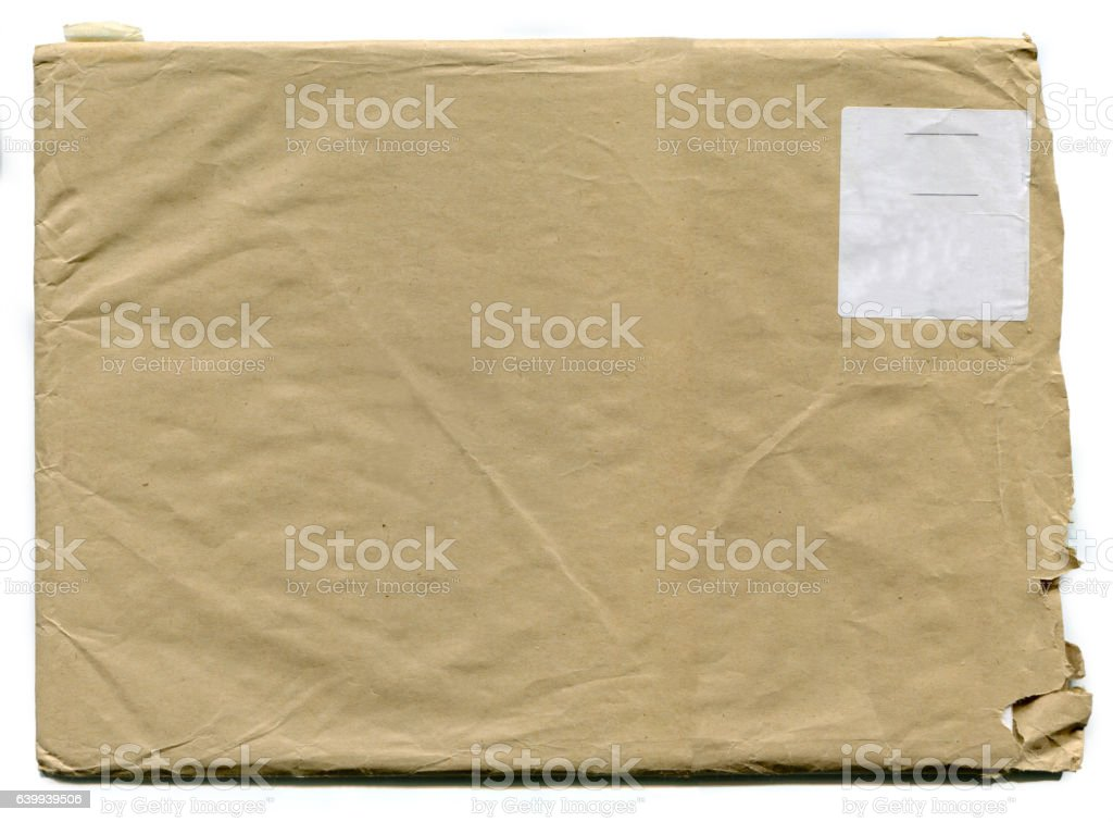 Old Blank Envelope (with clipping path) stock photo