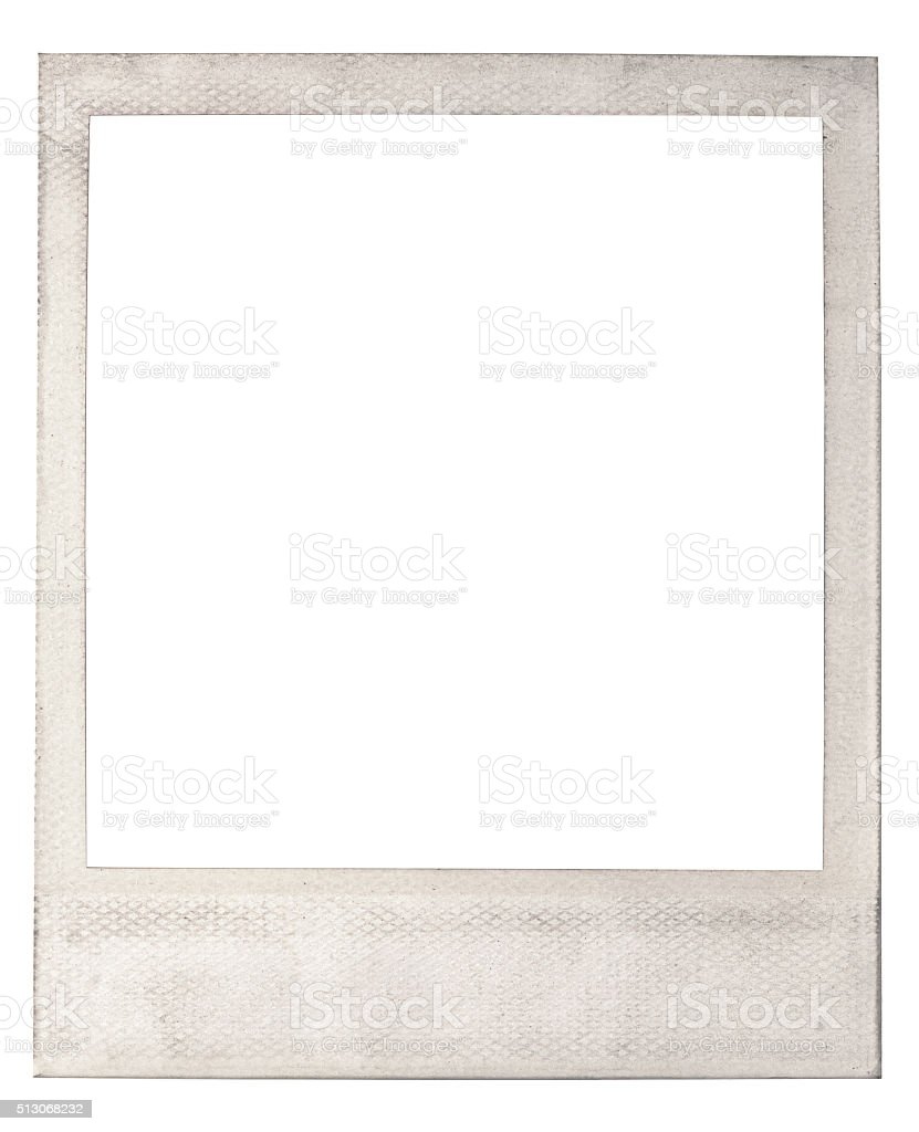 Old blank instant photo frame stock photo