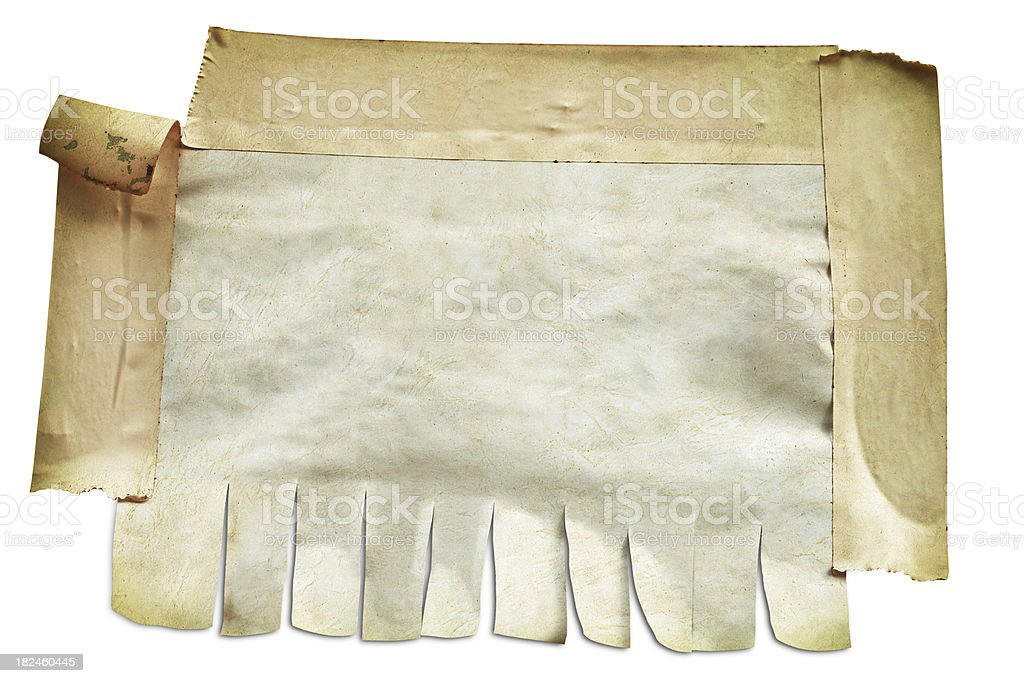 Old Blank Note Paper With Masking Tape royalty-free stock photo