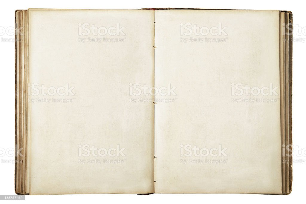Old Blank Open Book royalty-free stock photo