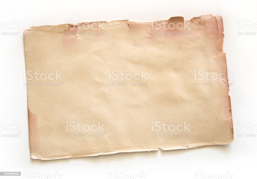 Old Blank Page royalty-free stock photo
