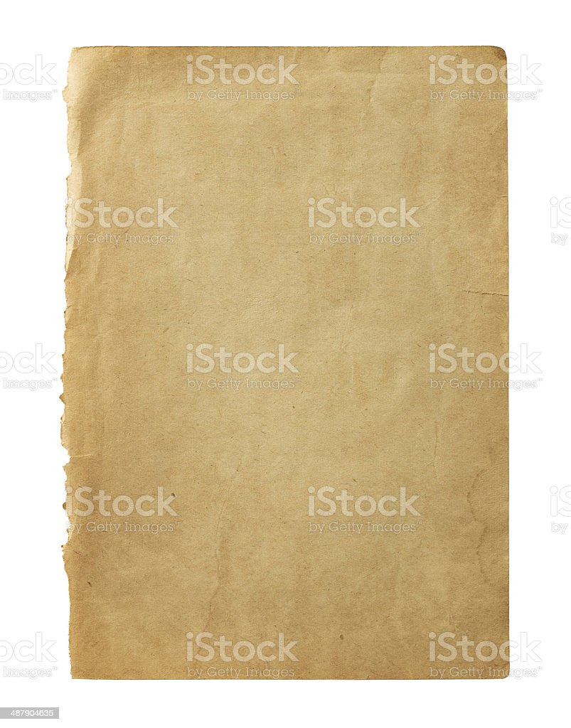 Old blank page stock photo