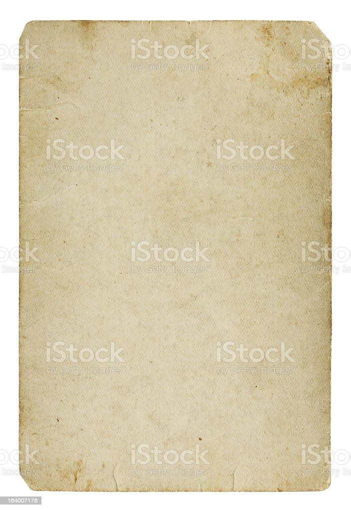 Old blank paper card royalty-free stock photo