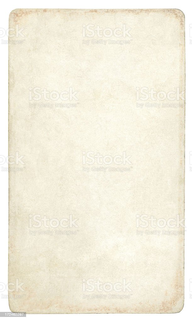 Old blank paper isolated (clipping path included) royalty-free stock photo