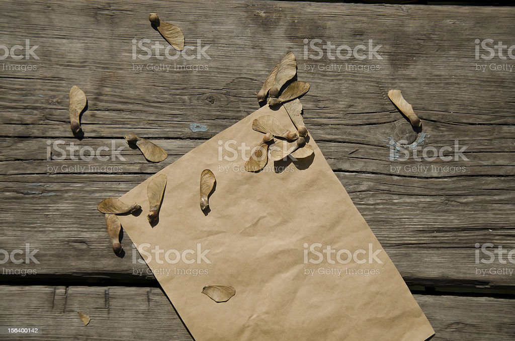 Old blank paper on deck royalty-free stock photo