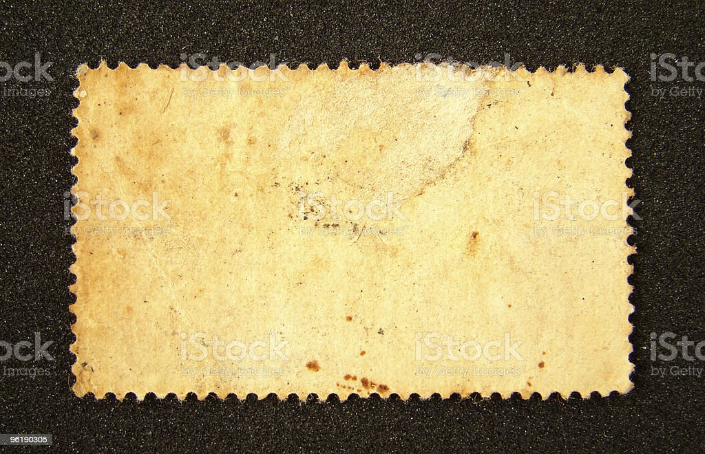 Old blank postage stamp royalty-free stock photo