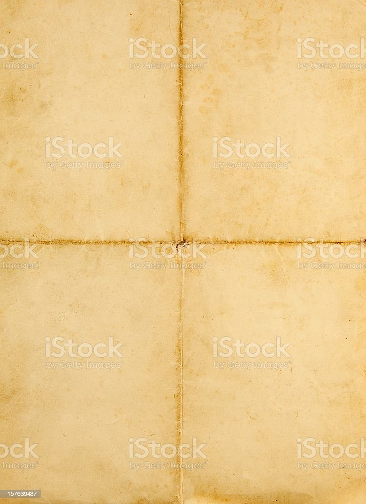 old blank quad folded a4 paper on white royalty-free stock photo