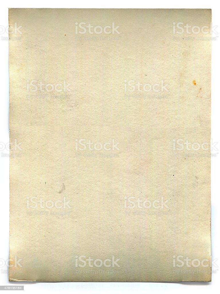 Vecchio vuoto carta retrò (con percorso clip foto stock royalty-free