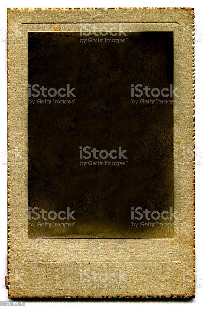 Vecchia cornice foto vuota retrò (con clipping path) foto stock royalty-free