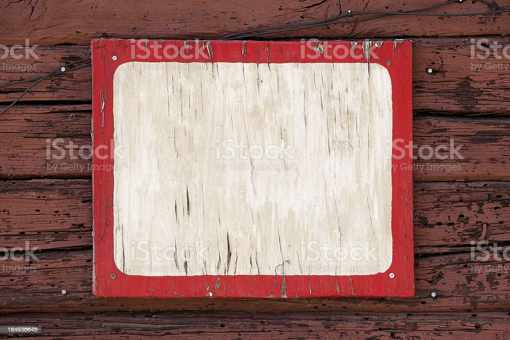 Old blank weathered sign stock photo