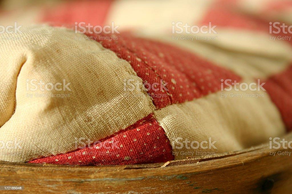 old blanket detail stock photo
