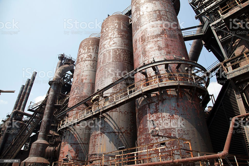 Old blast furnace stock photo