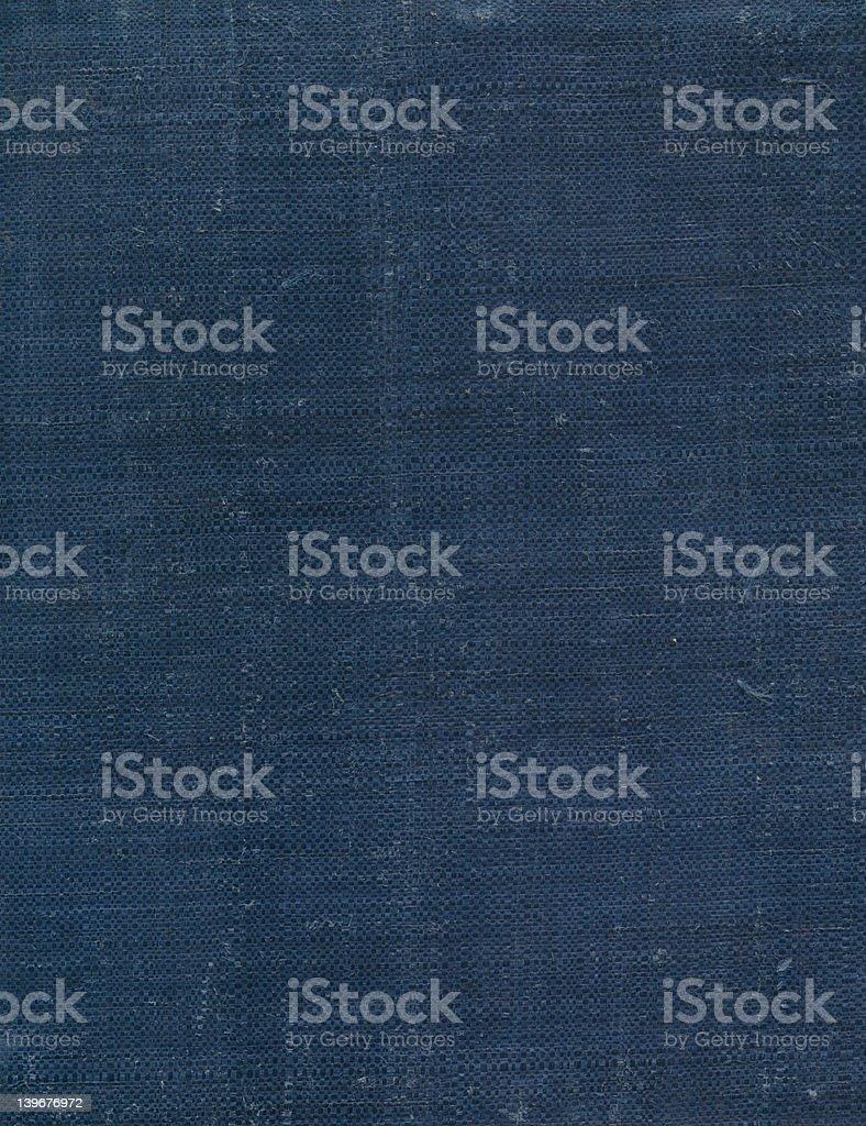 Vieille Couverture de livre Bleu toile photo libre de droits