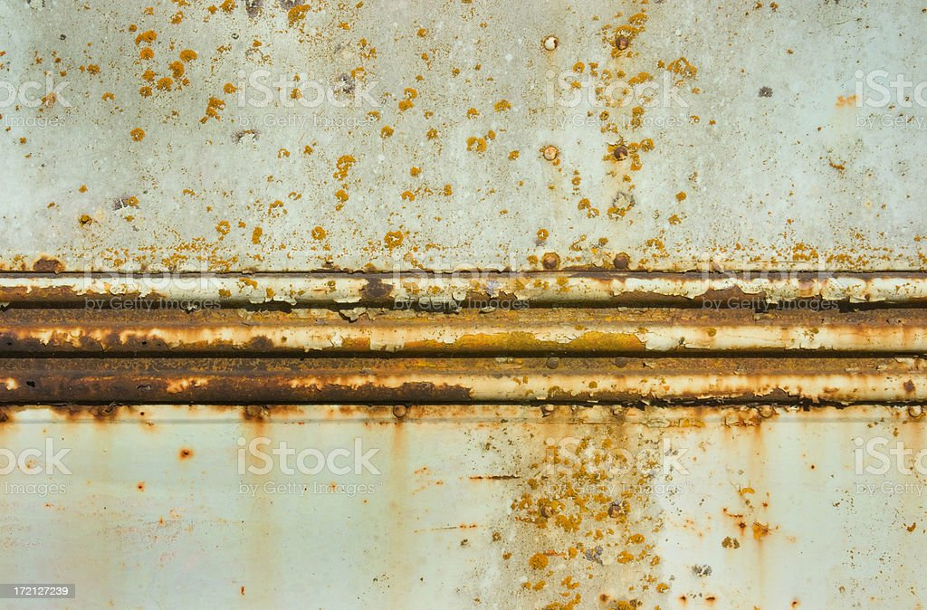 Old Blue Bus Rust royalty-free stock photo