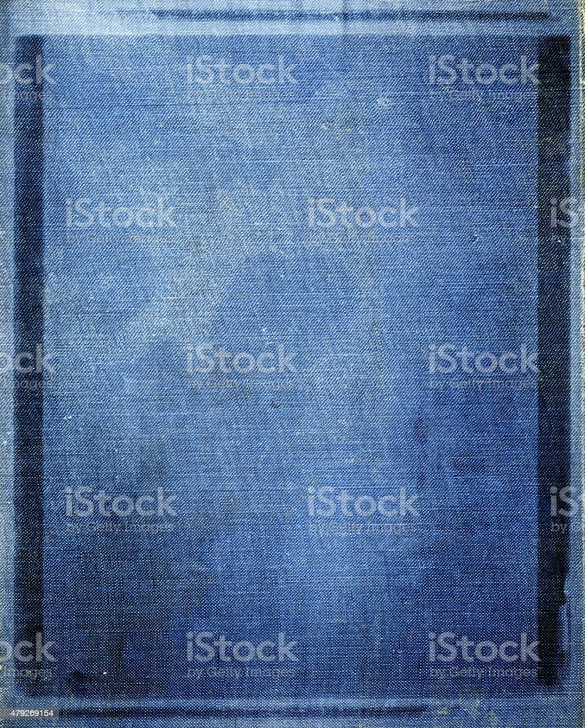 Old Blue Canvas Taxture Background stock photo