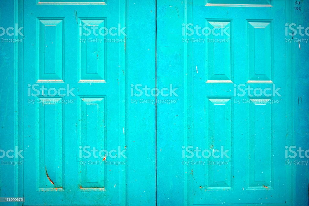 Old Blue Door royalty-free stock photo