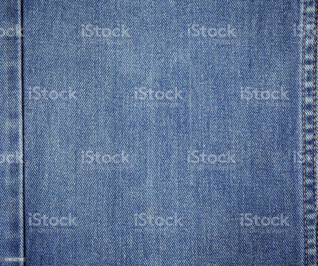 old blue jeans background and texture close up stock photo