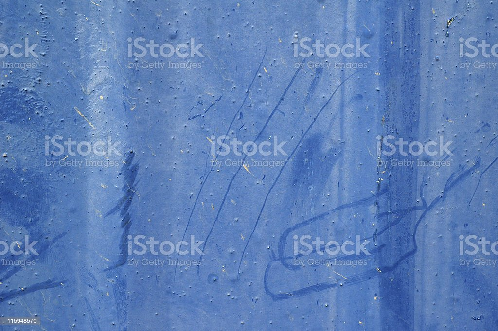 Old blue metal royalty-free stock photo