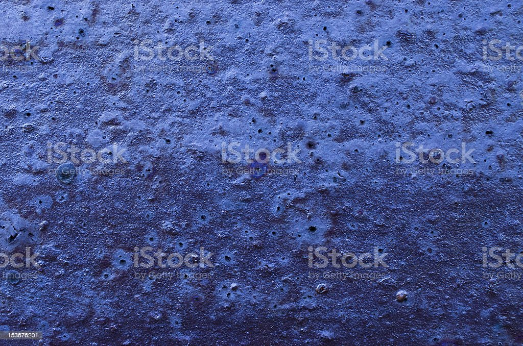 Old blue metal surface royalty-free stock photo