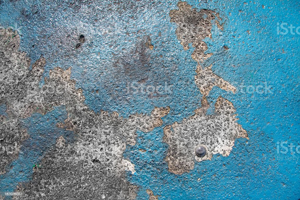 Old blue paint royalty-free stock photo