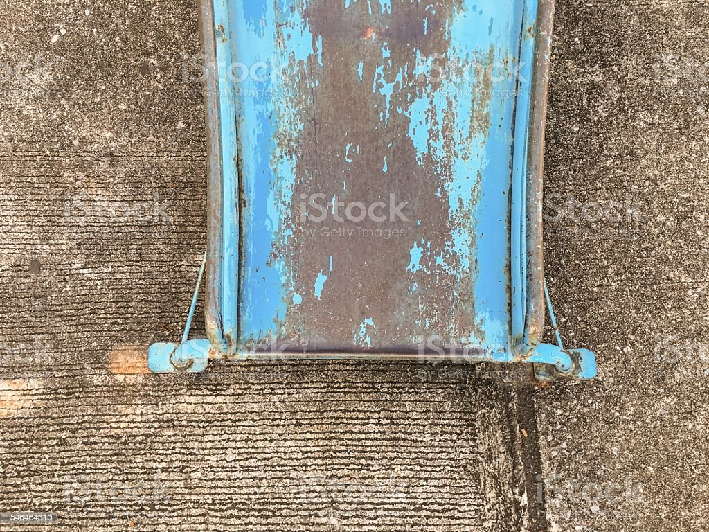 Old blue side on the playground royalty-free stock photo