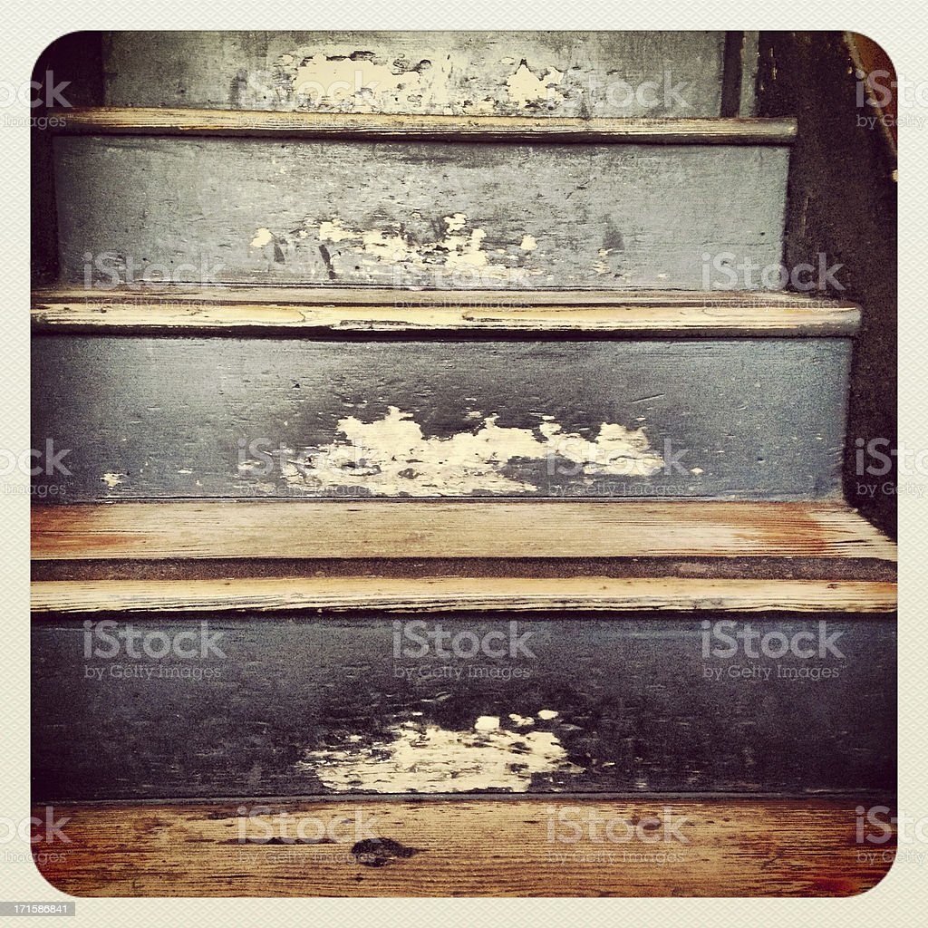 Old Blue Steps royalty-free stock photo