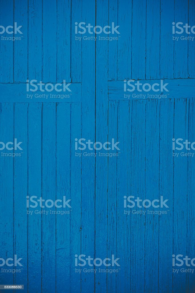 old blue timber background. stock photo