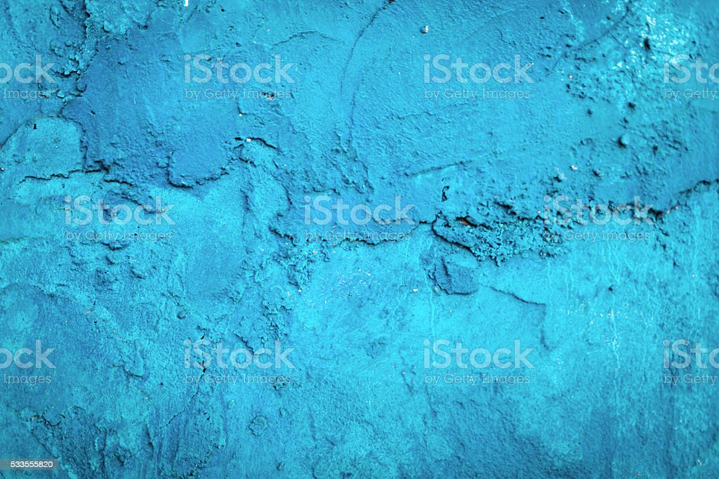 Old Blue Wall Background stock photo