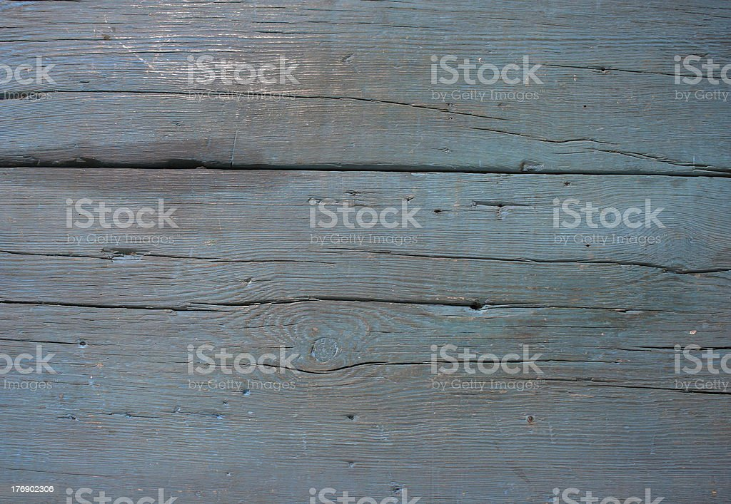 Old blue wood texture close-up stock photo