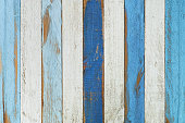Old blue wooden board background.