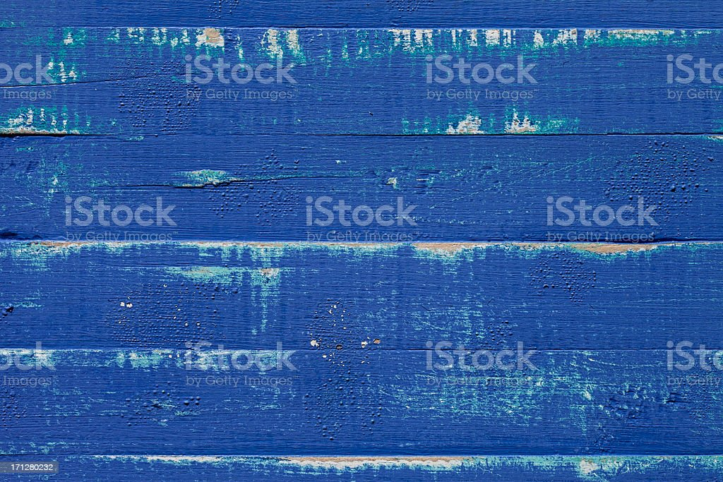 Old blue wooden board texture stock photo