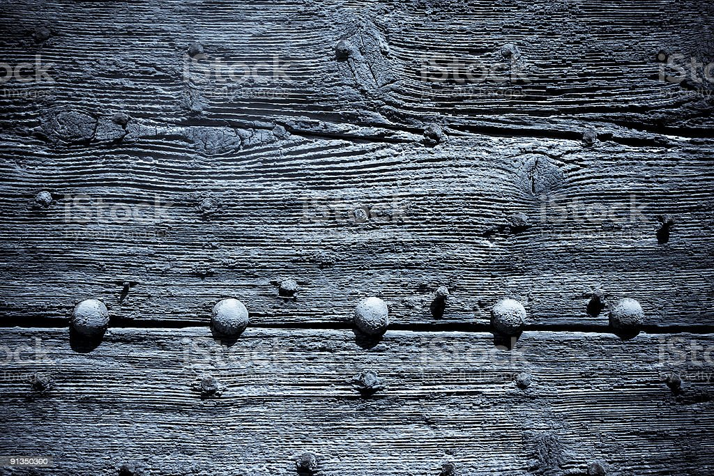 old blue wooden door background royalty-free stock photo