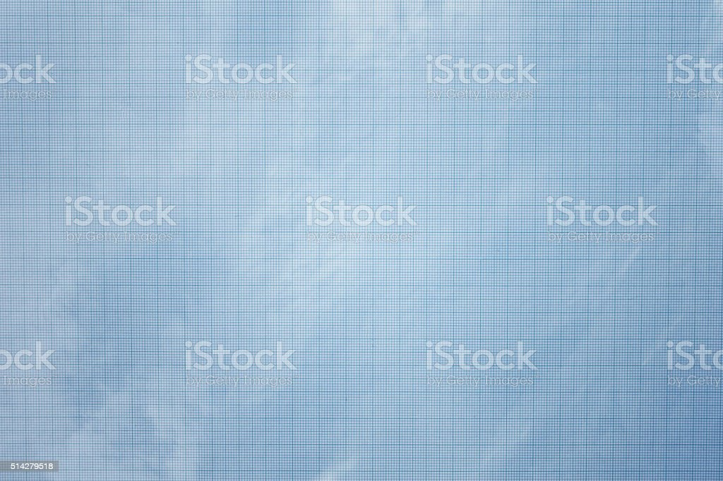 old blueprint paper background and texture stock photo