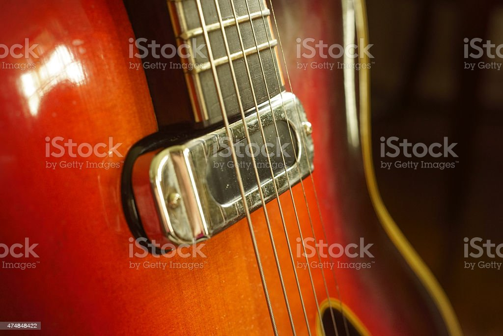Old Blues Guitar stock photo