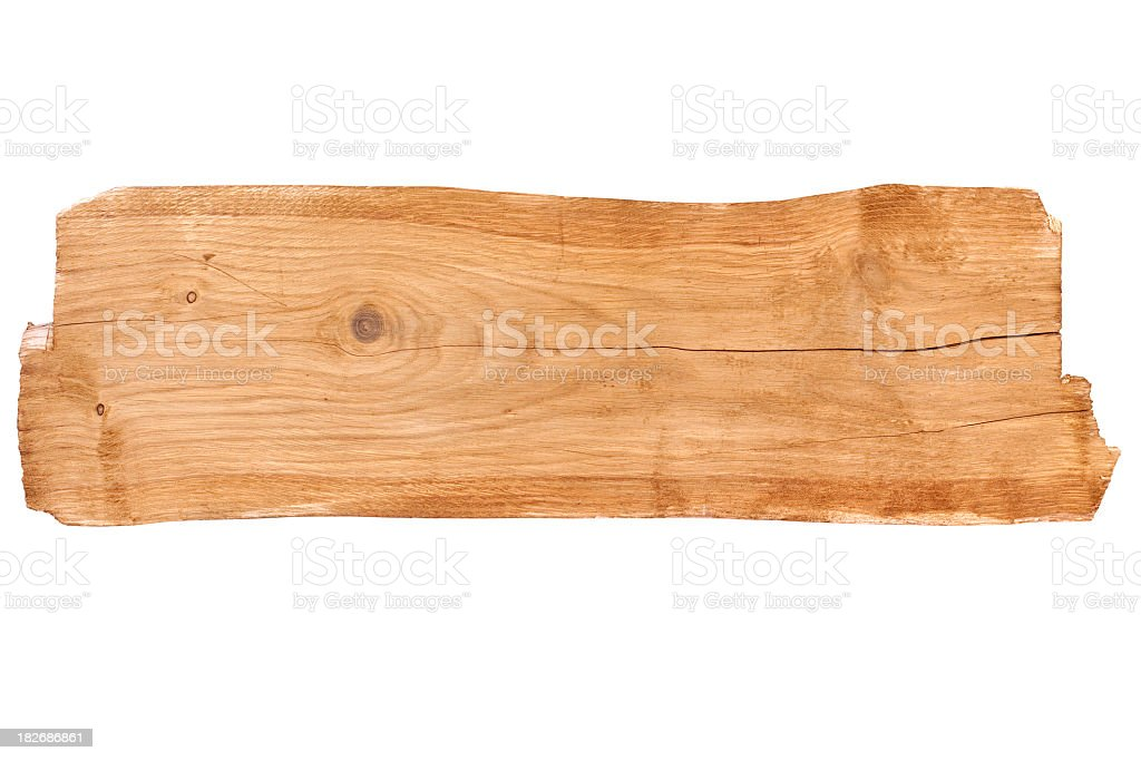 Old Board - isolated royalty-free stock photo