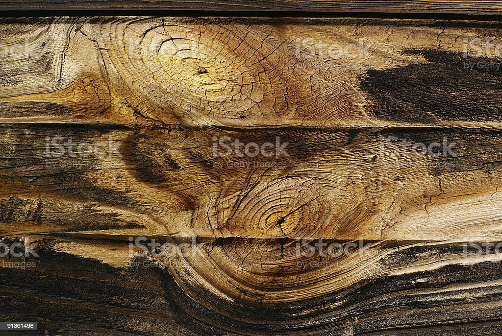 Old board with knots. royalty-free stock photo