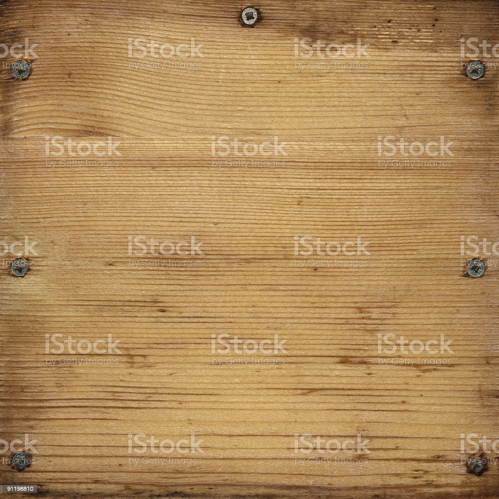 Old Boards and screws royalty-free stock photo