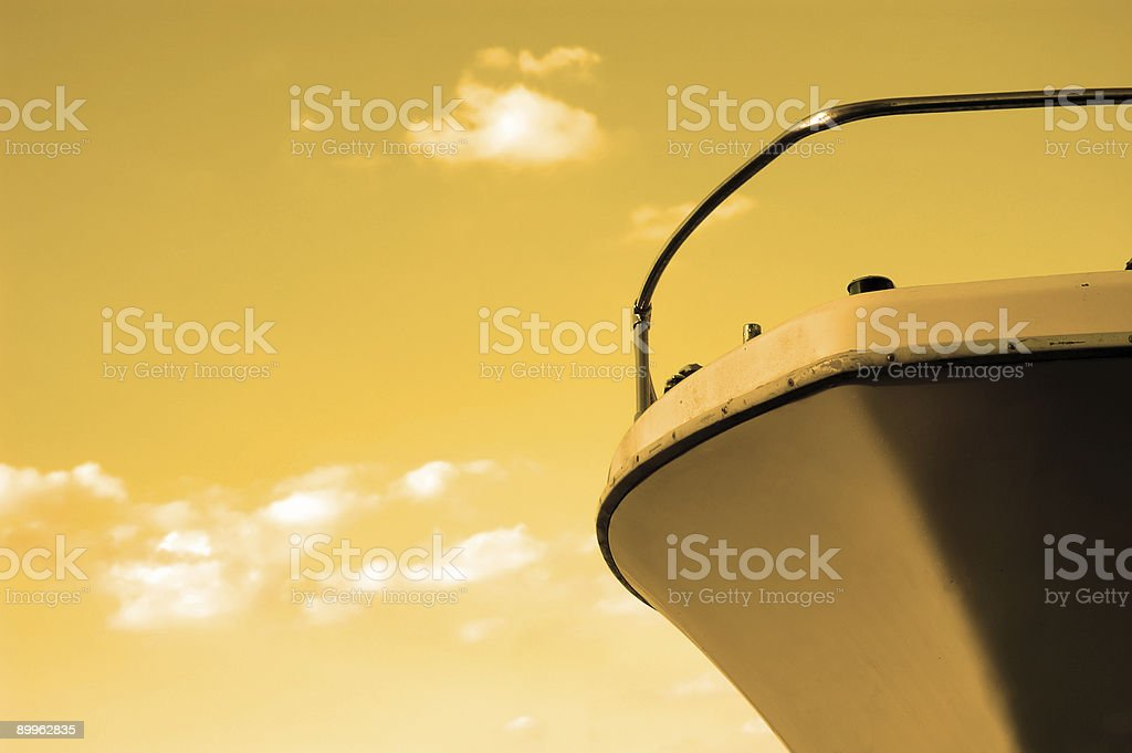 old boat against surreal sky royalty-free stock photo