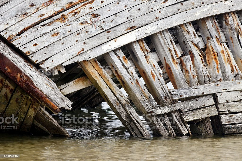 Old boat detail. royalty-free stock photo