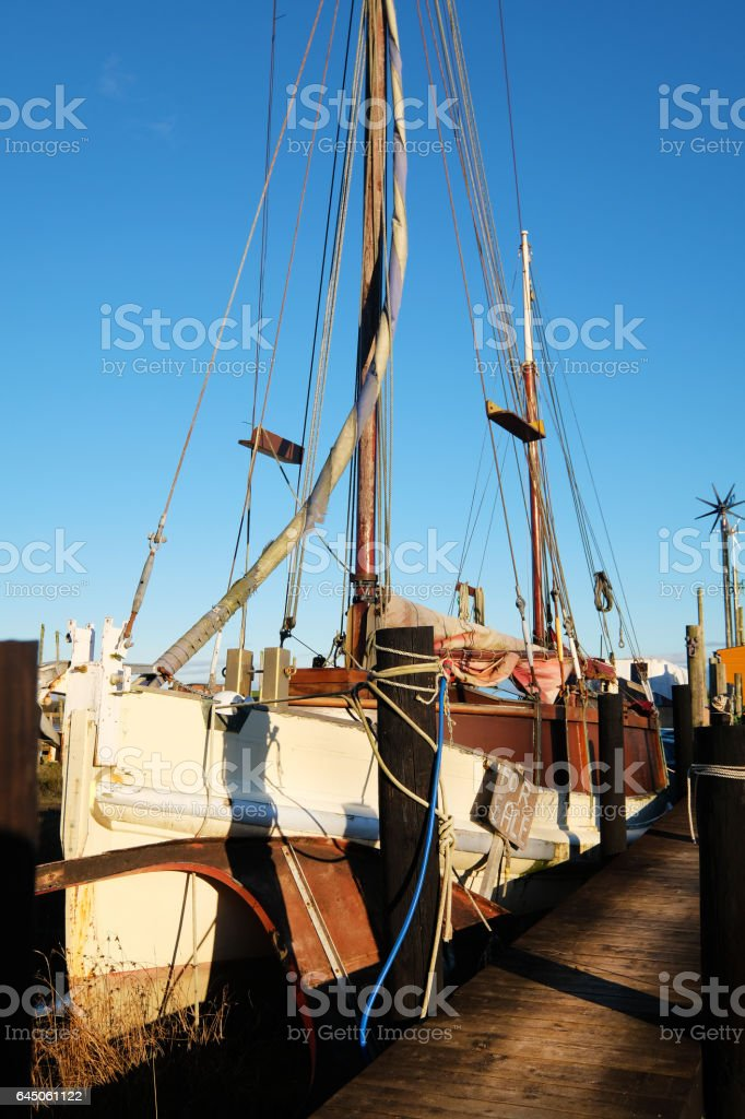 Old Boat for Sale stock photo