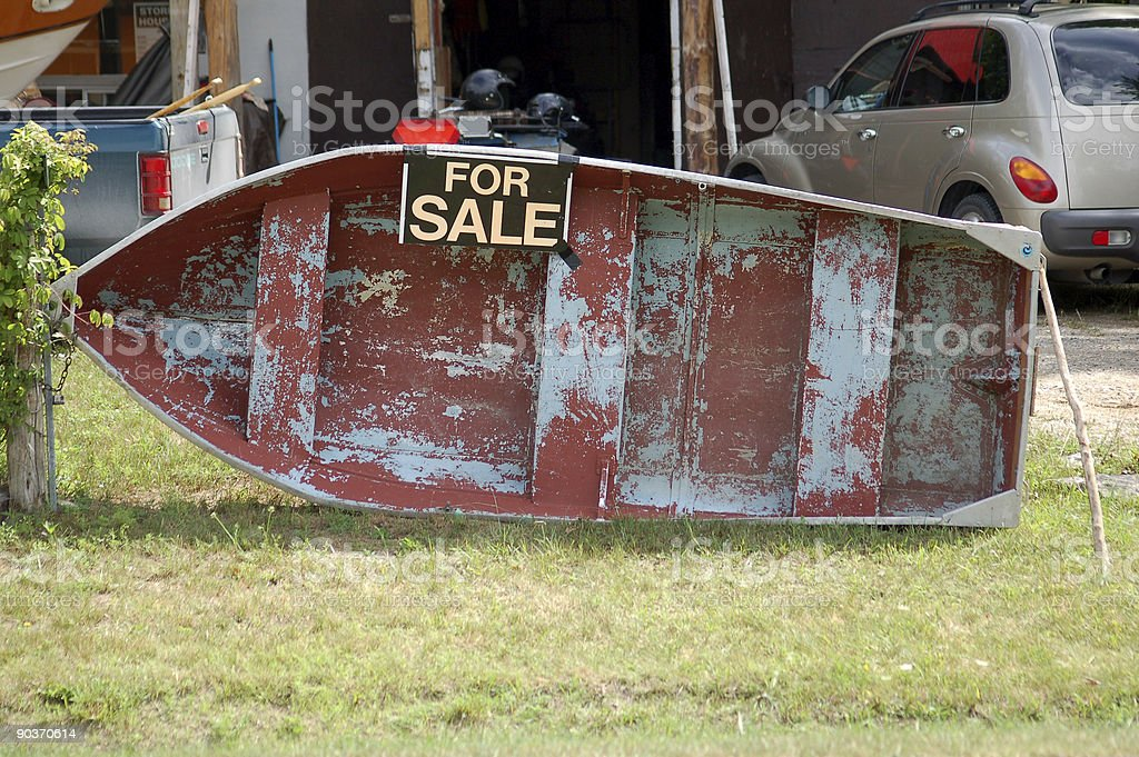 old boat - for sale stock photo