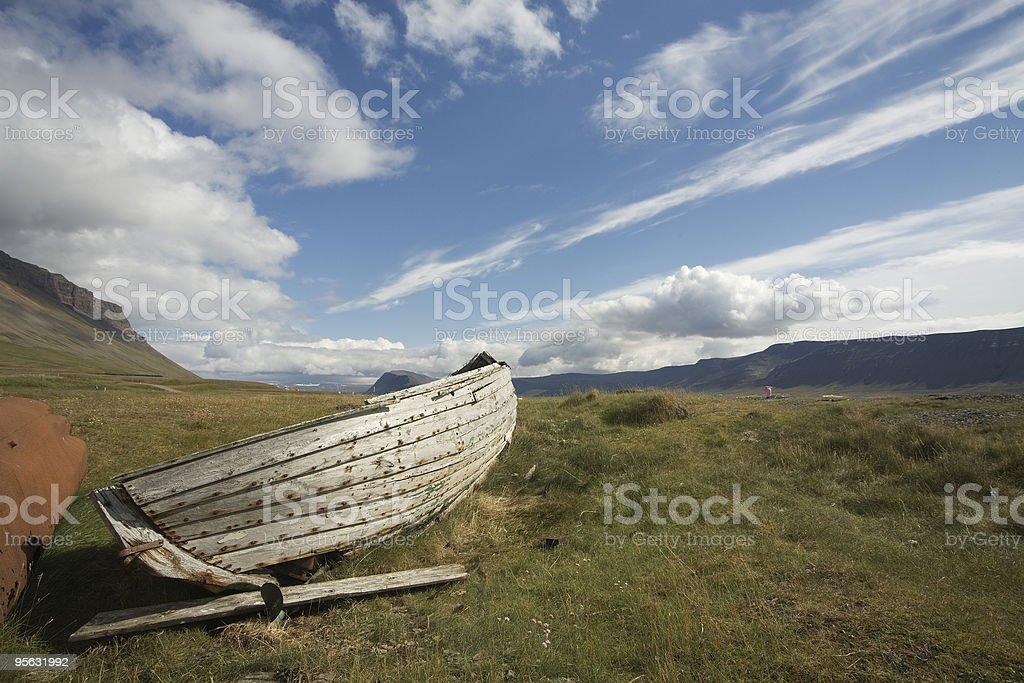 Old boat in Arnarfj?r?ur stock photo