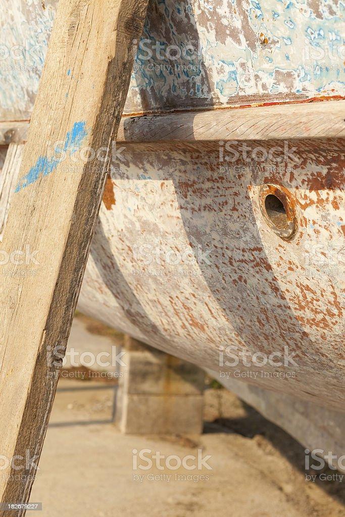 Old Boat - Maintenance royalty-free stock photo
