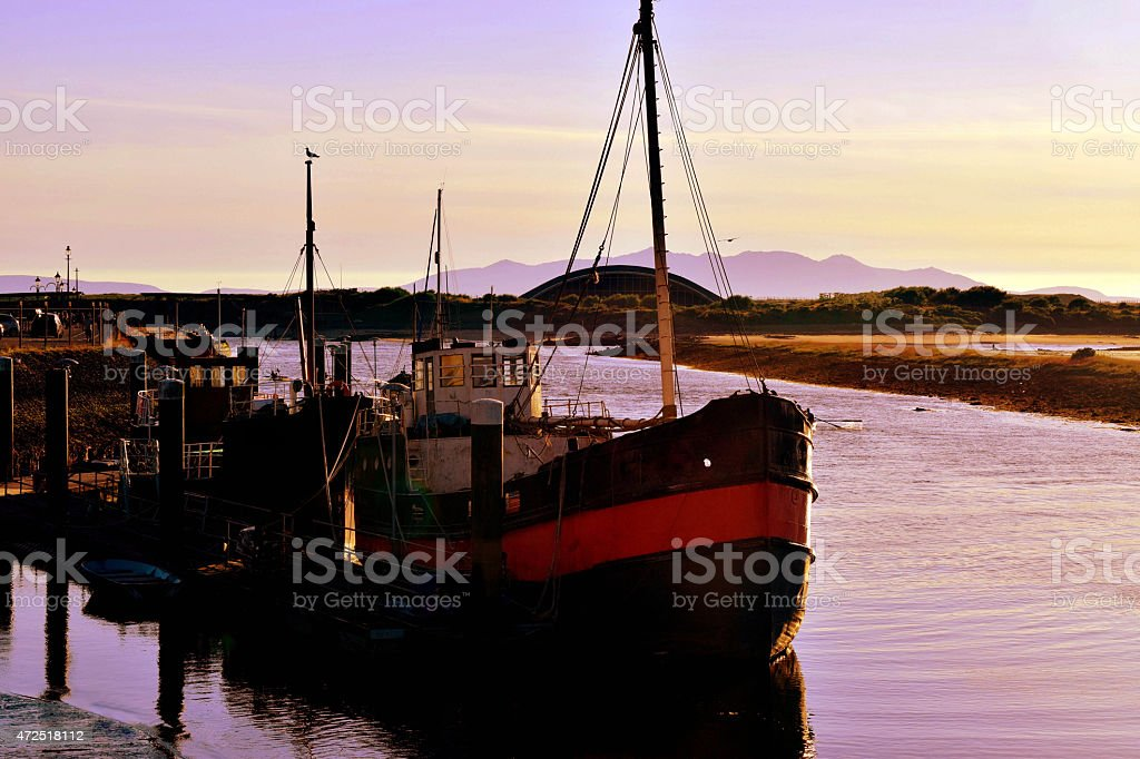 Old Boat of the Estuary stock photo