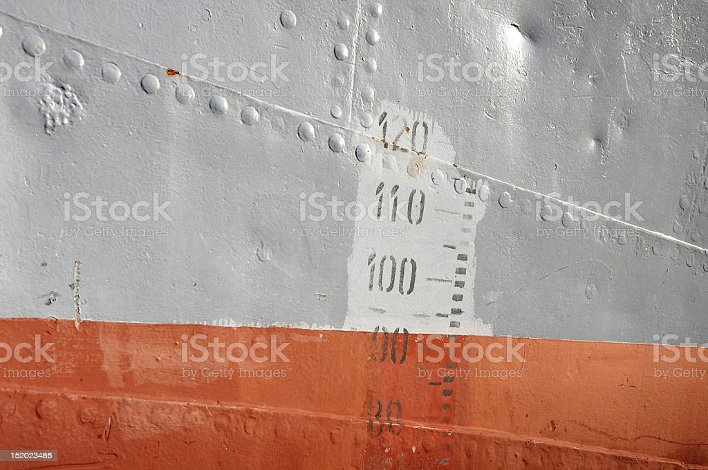 old boat waterline royalty-free stock photo