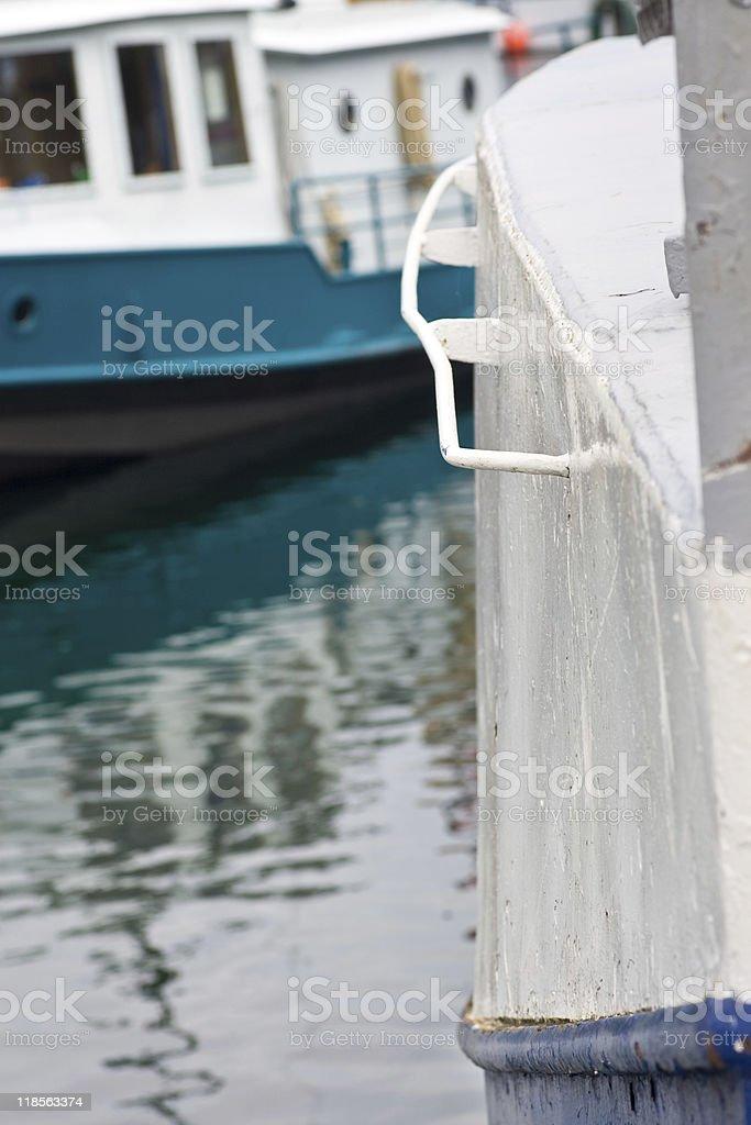 Old boats in a marina royalty-free stock photo